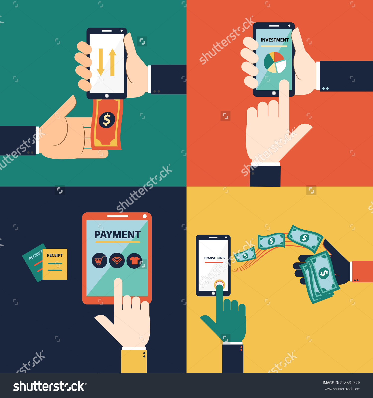 stock-vector-flat-design-vector-concept-of-mobile-banking-or-online-banking-this-set-consist-of-withdraw-money-218831326